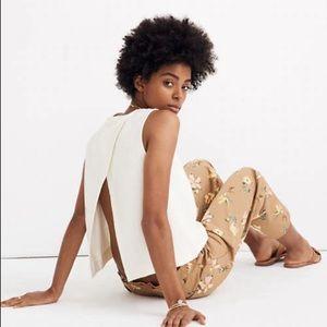 Madewell Texture & Thread Split-Back Shell Top 🌿